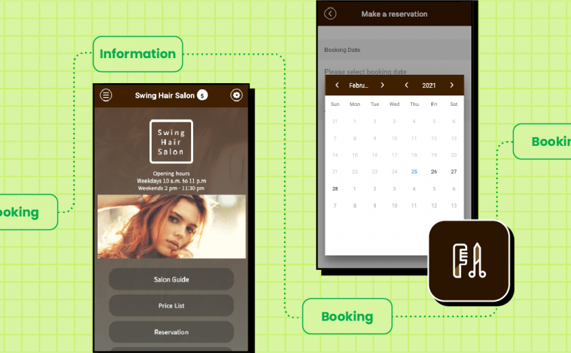 Make your own salon app with swing2app